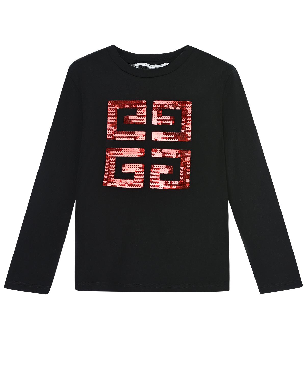 Купить Черная толстовка с логотипом из пайеток Givenchy