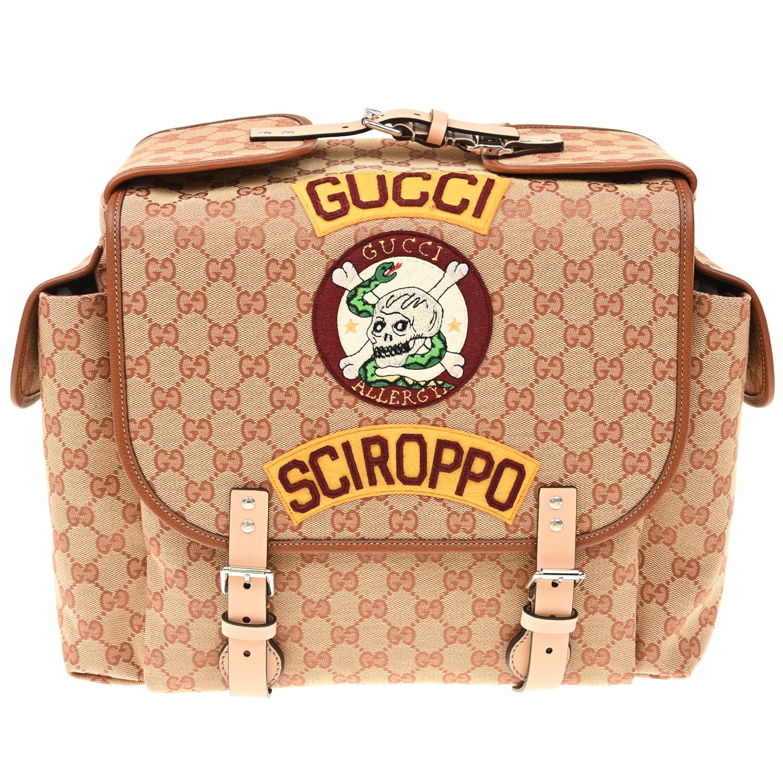 Рюкзак с логотипом 14х27х26,5 см GUCCI детский фото