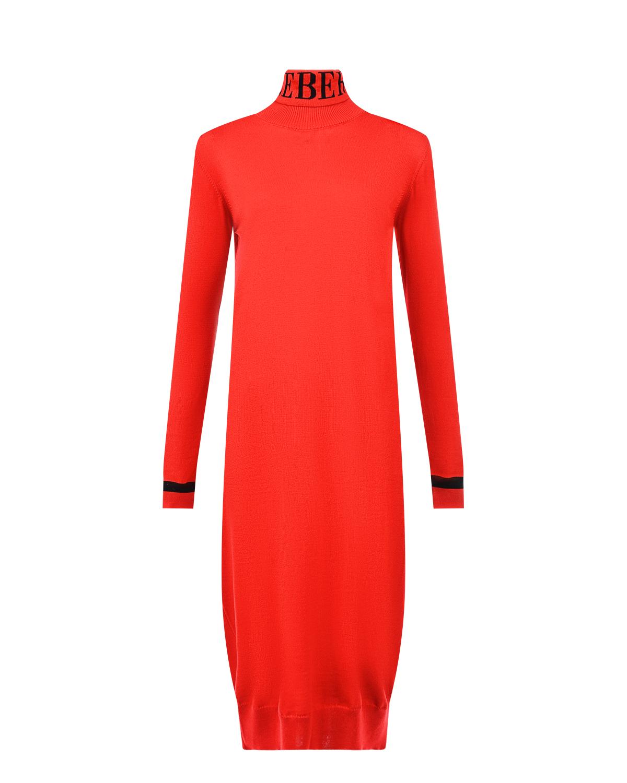 Красное платье из шерсти Iceberg фото