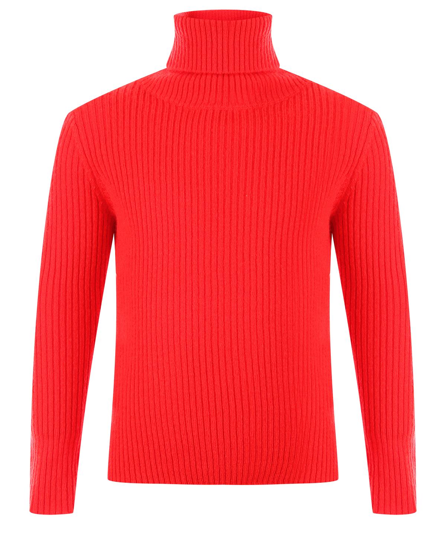 Купить Красная водолазка из шерсти IL Gufo детская, Красный, 100%шерсть