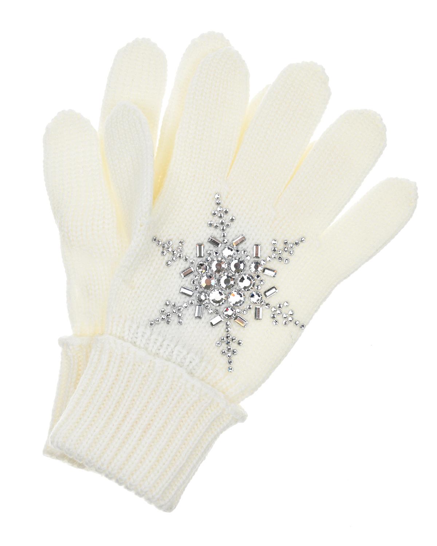 Купить Шерстяные перчатки со снежинкой из страз Il Trenino