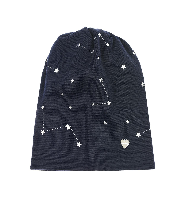 Купить Синяя шапка с принтом Звездное небо Il Trenino