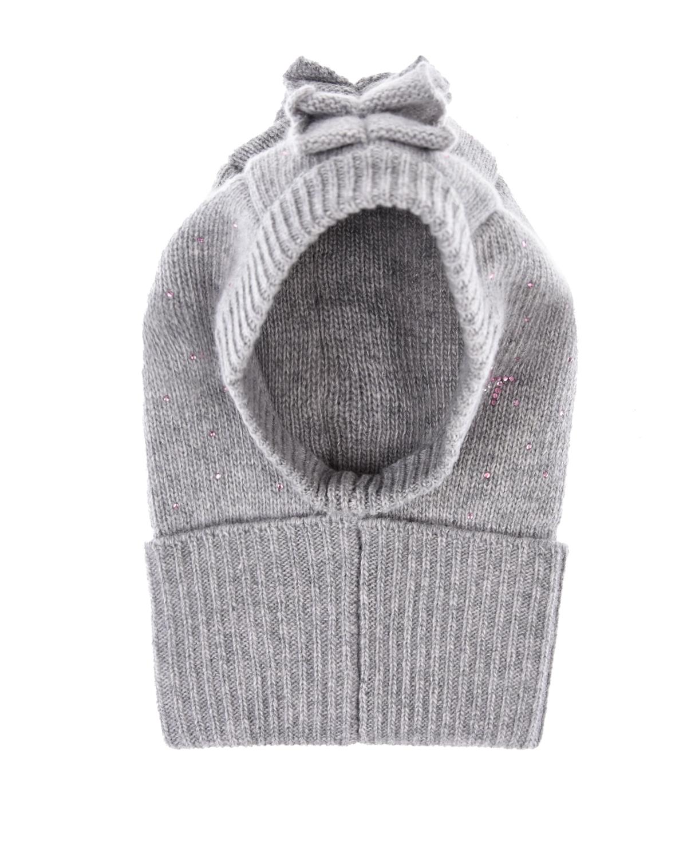 Купить Шапка- шлем из шерсти и кашемира Il Trenino детская, Серый, 70%шерсть+30%кашемир
