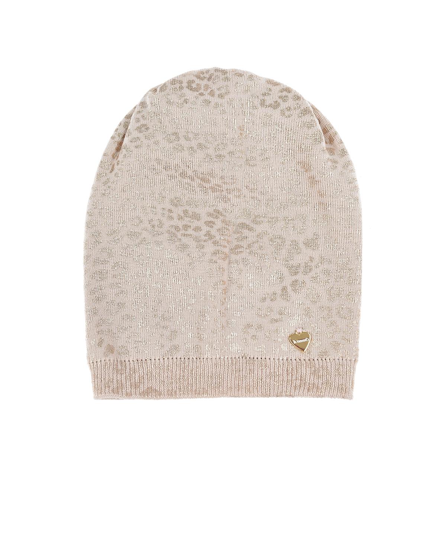 Купить Леопардовая шапка из шерсти Il Trenino детская, Бежевый, 100%шерсть