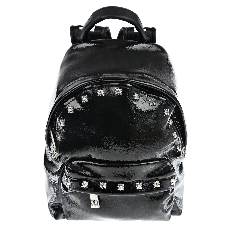 Черный рюкзак из эко-кожи 20x23x15 см John Richmond детский
