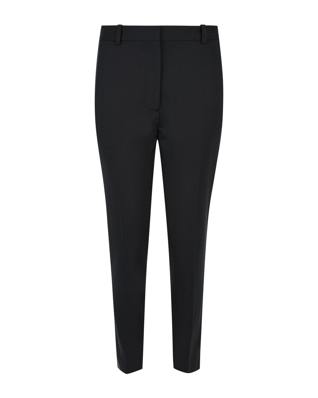 Купить Черные брюки из тонкой шерсти Joseph, Черный, 54%шерсть+43%полиэстер+3%эластан, 100%хлопок
