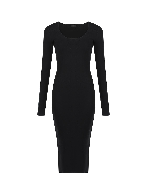 Черное платье из стрейч-шелка Joseph фото