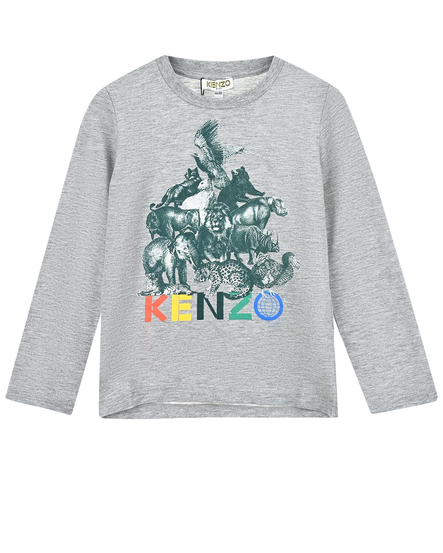 Серая толстовка с логотипом KENZO детская фото