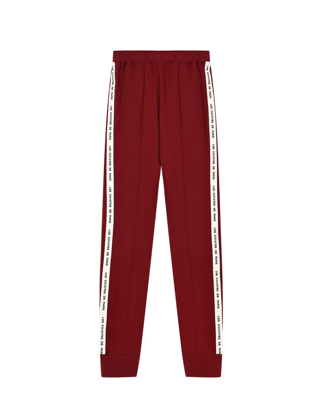 Купить со скидкой Красные спортивные брюки с белыми лампасами Les Coyotes de Paris детские