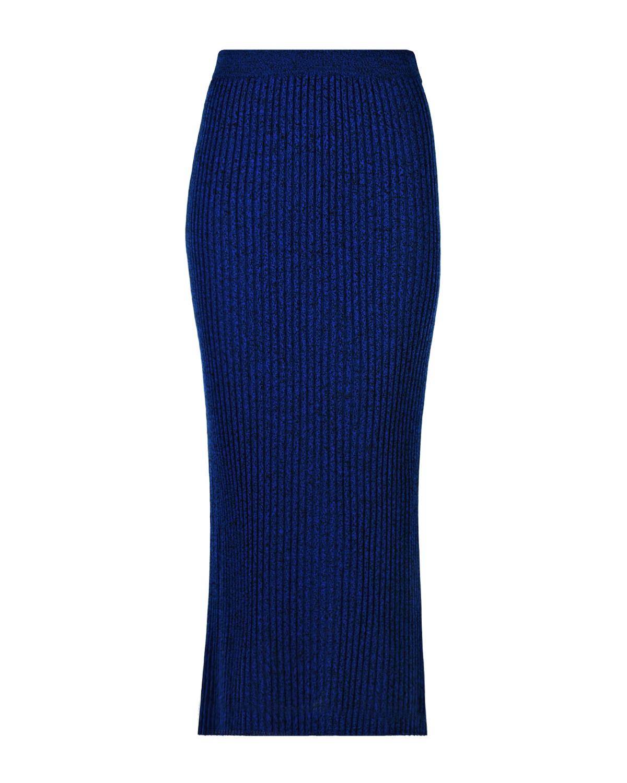 Купить Синяя юбка-миди из шерсти MRZ