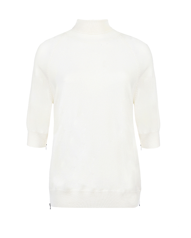 Купить Удлиненная водолазка из кашемира MRZ, Белый, 70%шерсть+30%кашемир