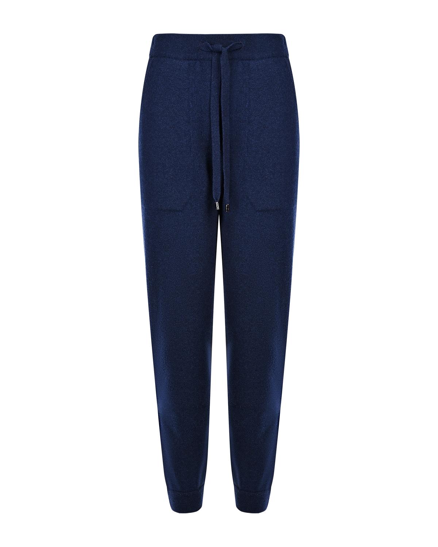 Купить Темно-синие брюки-джоггеры из шерсти и кашемира MRZ, Синий, 70%шерсть+30%кашемир