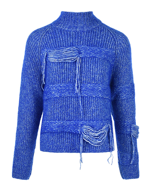 Купить Синий джемпер фактурной вязки MRZ