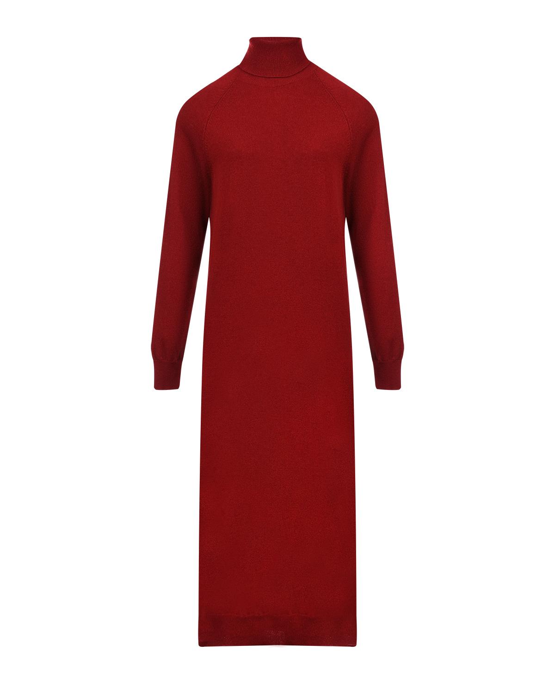 Купить Бордовое платье-водолазка из шерсти и кашемира MRZ, Бордовый, 70%шерсть+30%кашемир