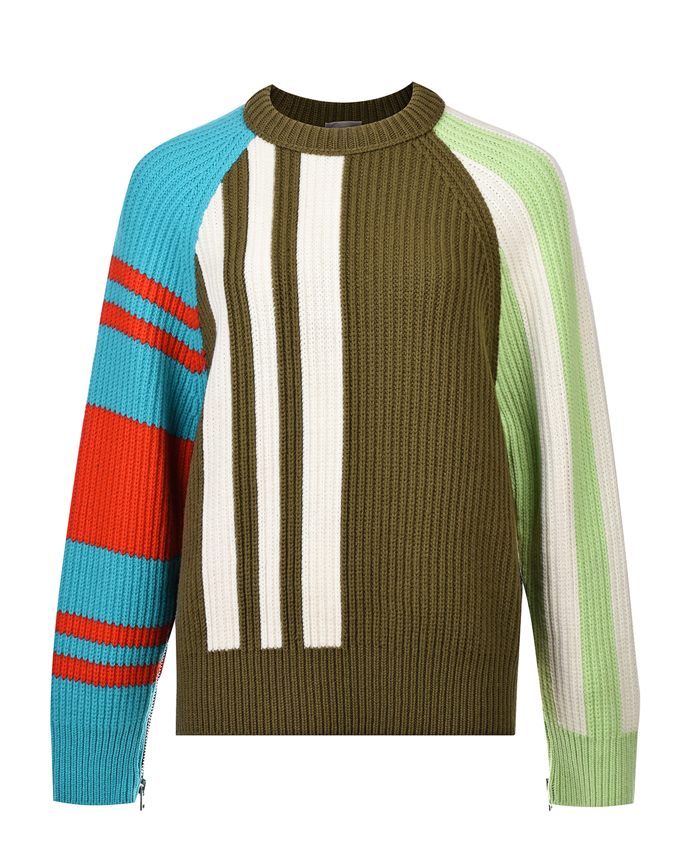 Купить Джемпер из шерсти и кашемира в стиле color block MRZ, Мультиколор, 70%шерсть+30%кашемир