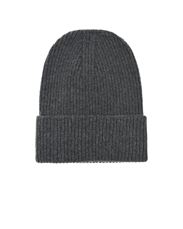 Купить Серая шапка из шерсти и кашемира MRZ