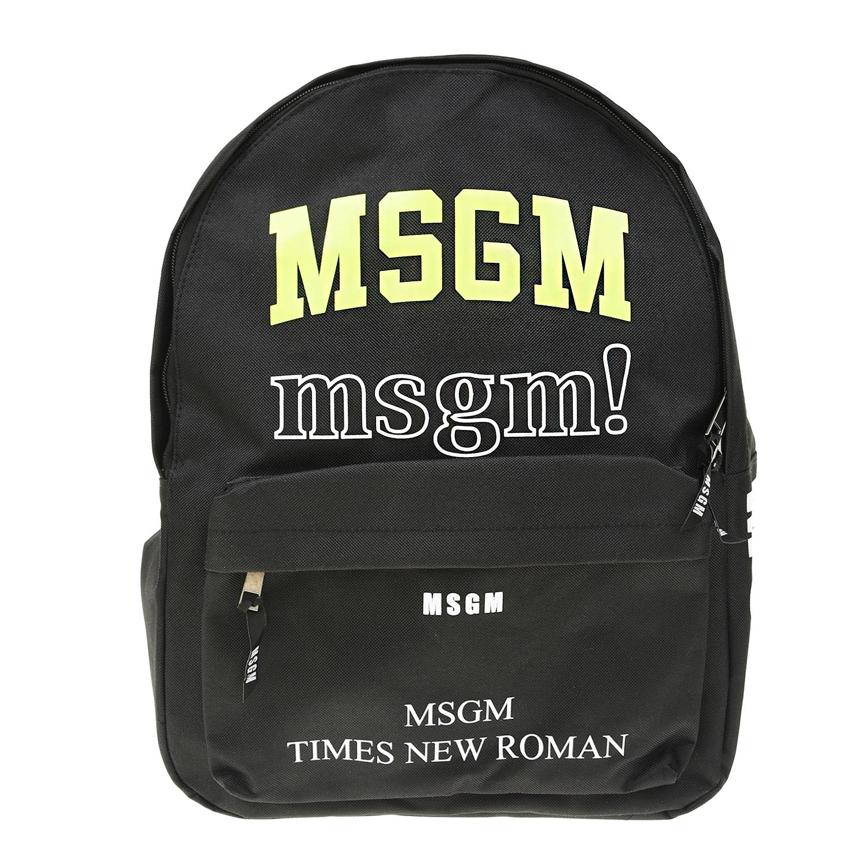 Черный рюкзак с логотипом 28х40х13 см MSGM детский фото