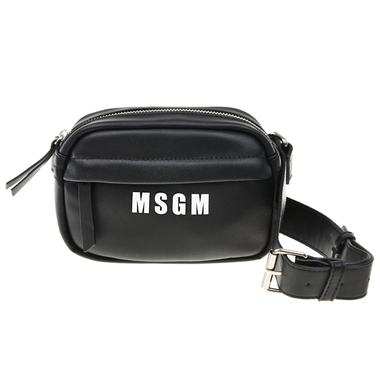Купить Поясная сумка с логотипом 16, 5 х 12, 5 х 5, 5 см MSGM детская, Черный, 100%полиуретан