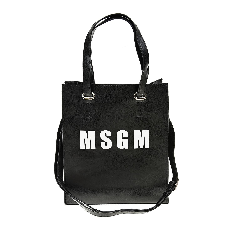 Купить Черная сумка с логотипом 25х29х8 см MSGM детская, Черный, 100%полиуретан