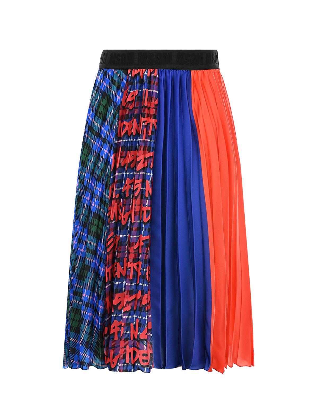 Плиссированная юбка-миди MSGM детская фото
