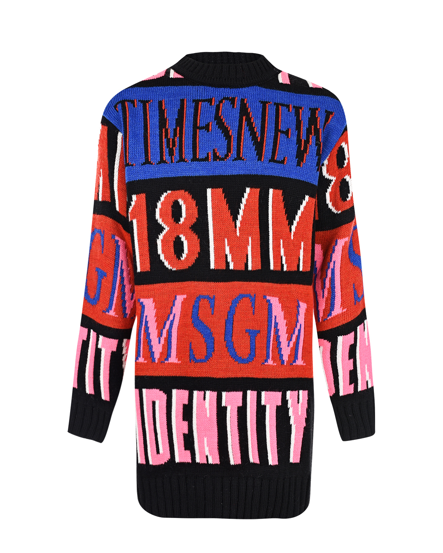 Платье colorblock с логотипом MSGM детское фото