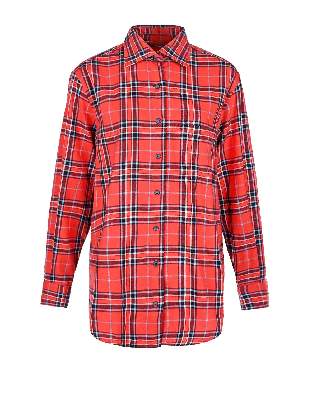 Купить Удлиненная рубашка для беременных в клетку Monamoon