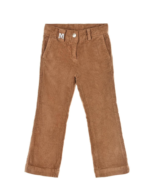 Купить со скидкой Бежевые вельветовые брюки Monnalisa детские
