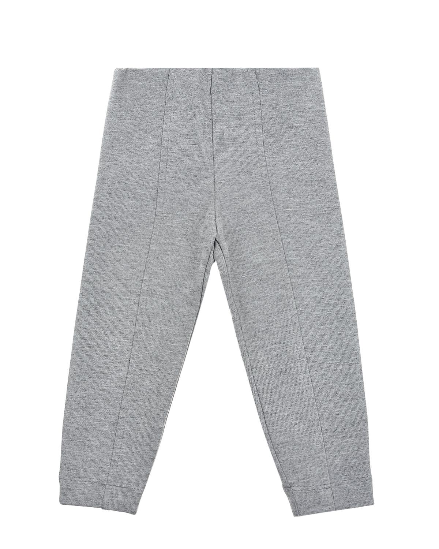 Серые брюки с эластичным поясом Monnalisa детские фото
