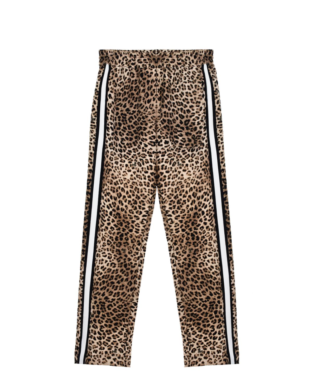 Спортивные брюки с леопардовым принтом Monnalisa детские фото