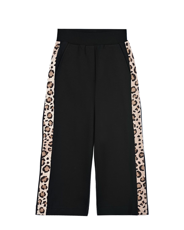 Купить Спортивные брюки с леопардовыми лампасами Monnalisa