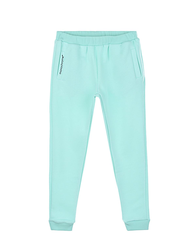 Спортивные брюки мятного цвета MONOCHROME детские фото