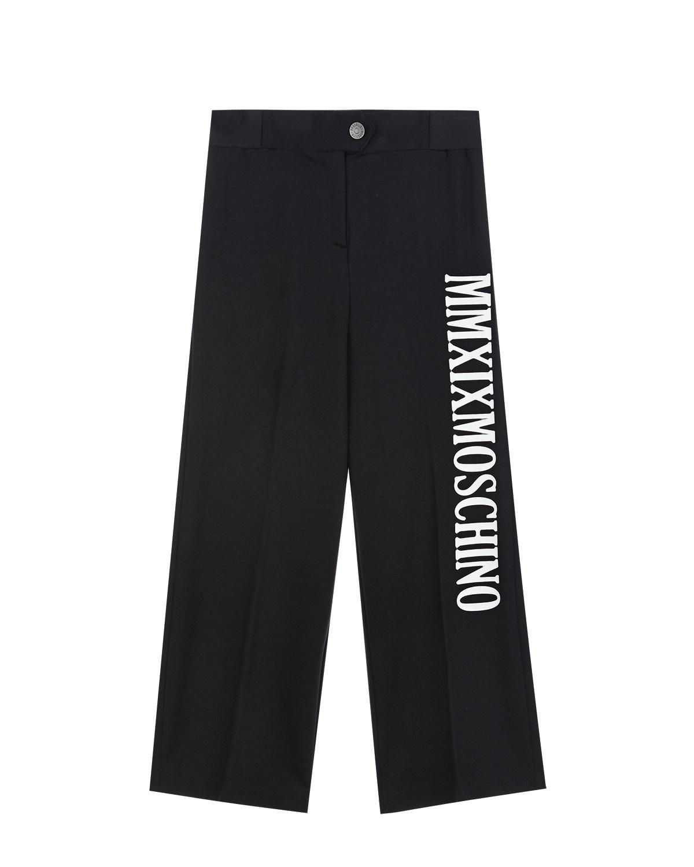 Черные брюки свободного кроя Moschino детские фото