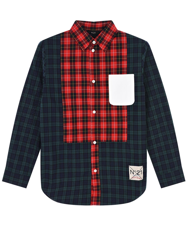 Купить Рубашка из хлопка в клетку No. 21