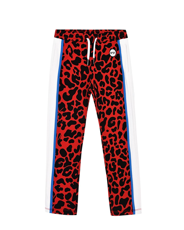 Купить Красные леопардовые спортивные брюки No. 21