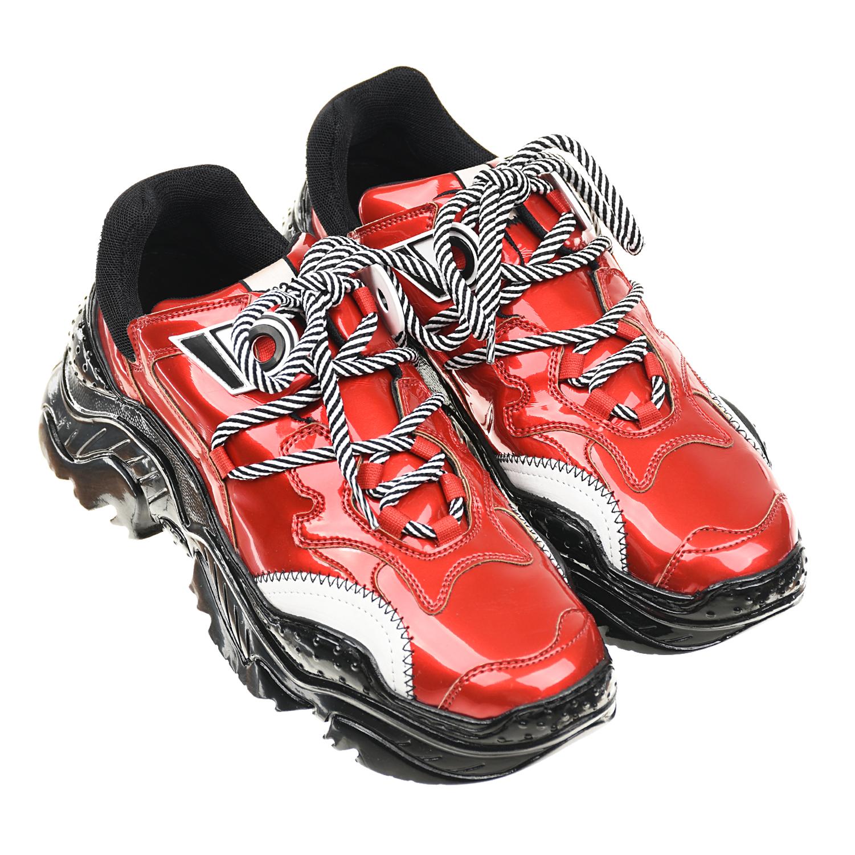 Купить Красные лакированные кроссовки №21