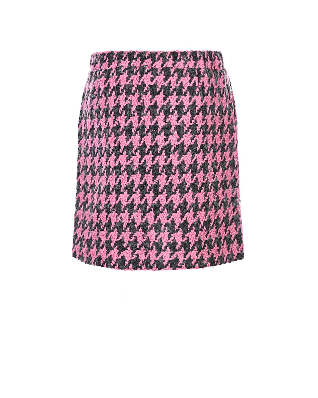 Купить Шерстяная юбка прямого кроя Natasha Zinko детская, Розовый, 28%шерсть+63%акрил+4%полиэстер+3%полиамид+2%вискоза, 100%хлопок, 60%ацетат+40%купро