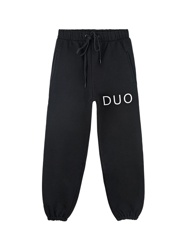 Черные спортивные брюки с принтом DUO Natasha Zinko детские фото