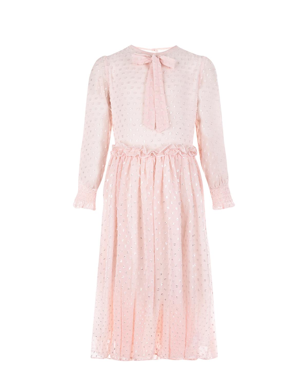 Розовое платье из шифона Paade Mode детское фото