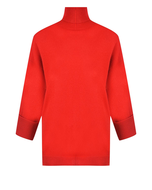 Красный джемпер с высоким горлом из кашемира Parosh фото