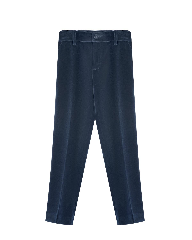 Купить со скидкой Синие велюровые брюки Paul Smith детские