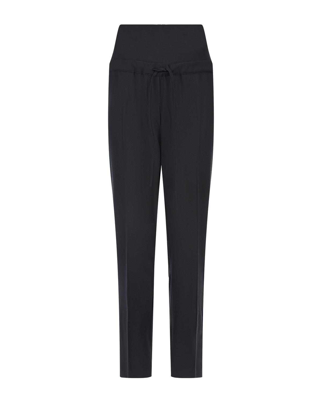Черные спортивные брюки для беременных с лампасами Pietro Brunelli Черные спортивные брюки для беременных с лампасами Pietro Brunel черного цвета