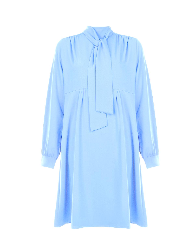 Купить Голубое приталенное платье для беременных Pietro Brunelli, Голубой, 100%полиэстер
