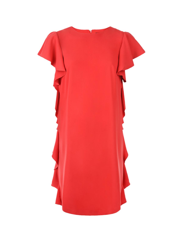 Купить Красное платье для беременых с воланами Pietro Brunelli, Красный, 100%полиэстер