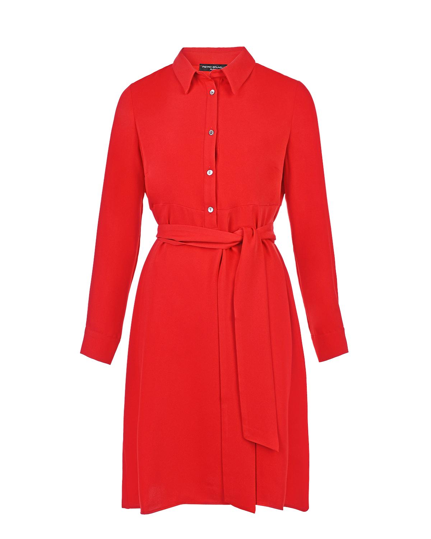 Красное офисное платье для беременных Pietro Brunelli красного цвета