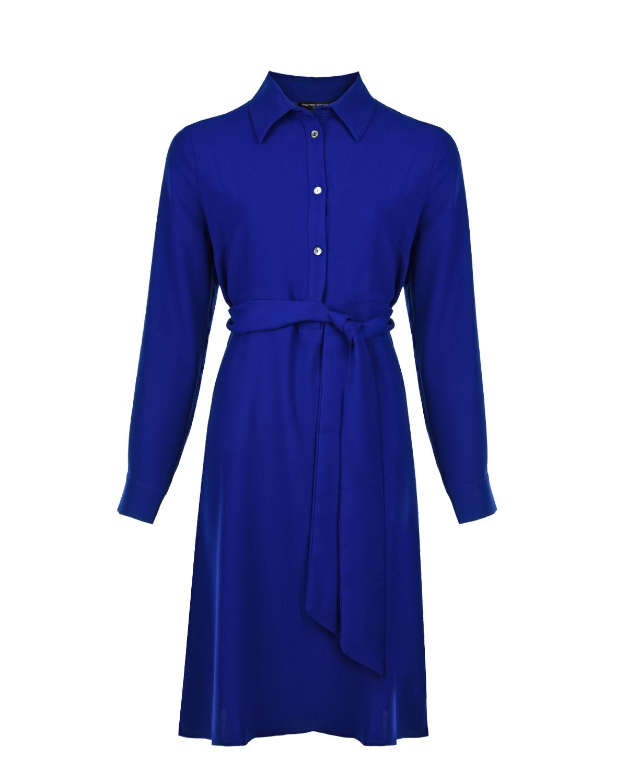 Синее офисное платье Anne для беременных Pietro Brunelli синего цвета