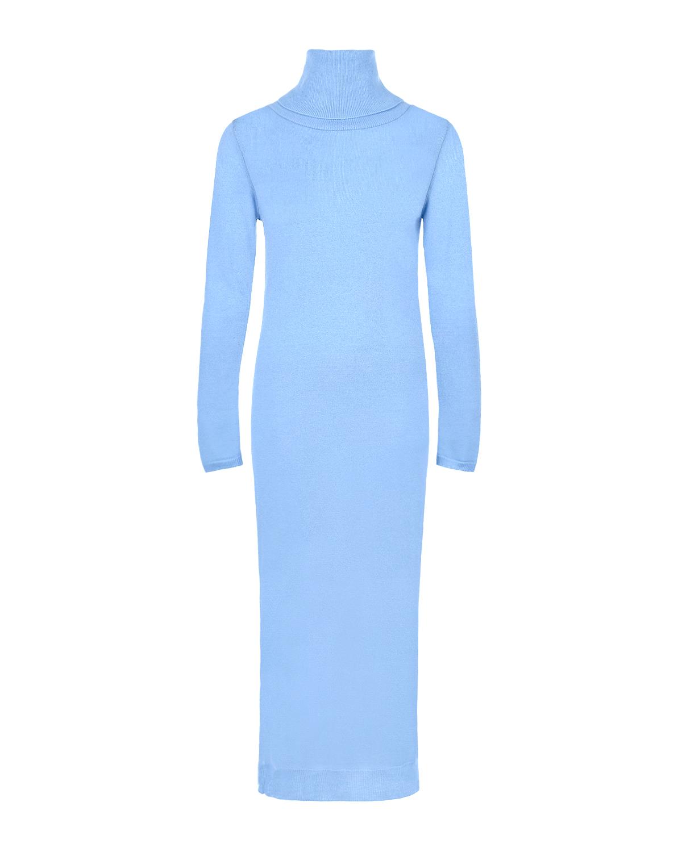 Купить Голубое платье-водолазка для беременных из шерсти и кашемира Pietro Brunelli