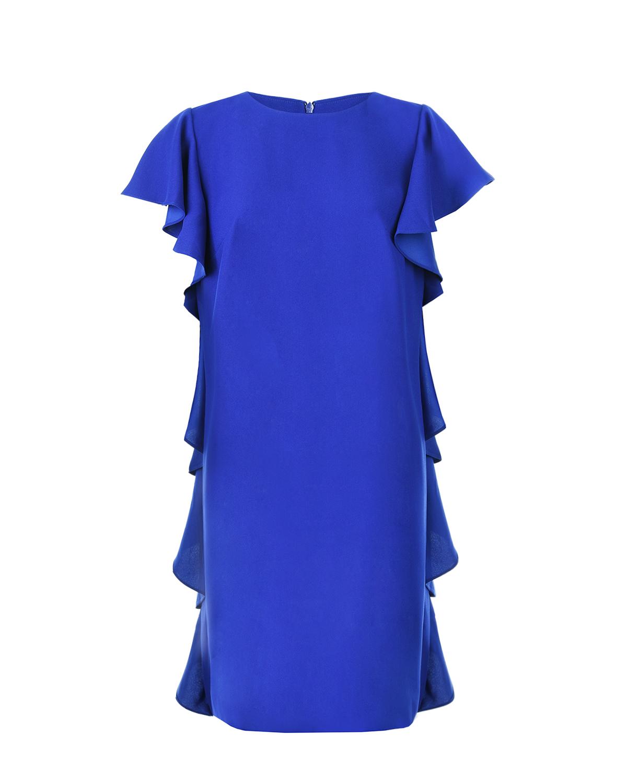Купить Синее платье для беременых с воланами Pietro Brunelli, Синий, 100%полиэстер