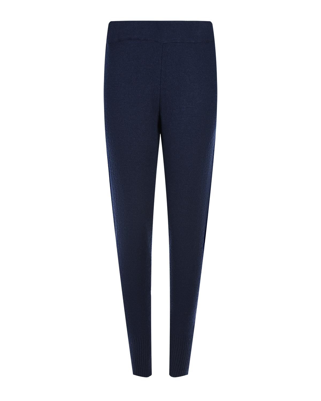 Синие спортивные брюки для беременных из смесовой шерсти Pietro Brunelli синего цвета