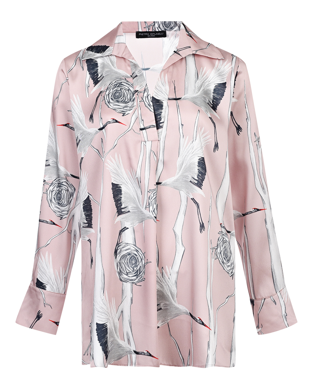 Купить Блуза для беременных с принтом аисты Pietro Brunelli, Розовый, 100%полиэстер