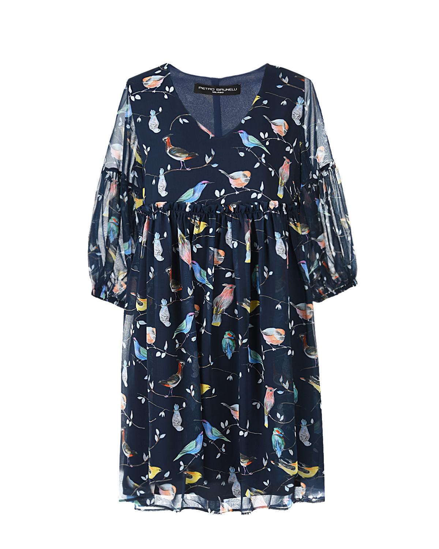 """Платье для беременных с принтом """"птицы"""" Pietro Brunelli Платье для беременных с принтом """"птицы"""" Pietro Brunell цвет нет цвета"""